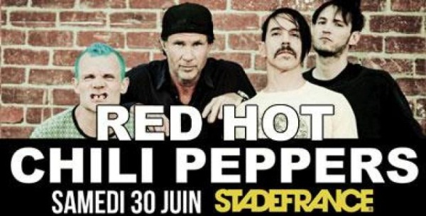 Le bonus de la semaine #7 Les Red Hot Chili Peppers au Stade de France le 30/06/12