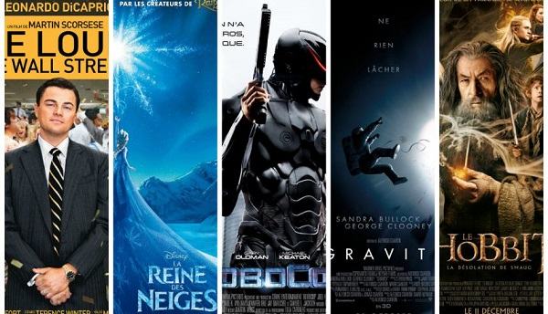 Les 10 meilleurs films au box office en France en 2014